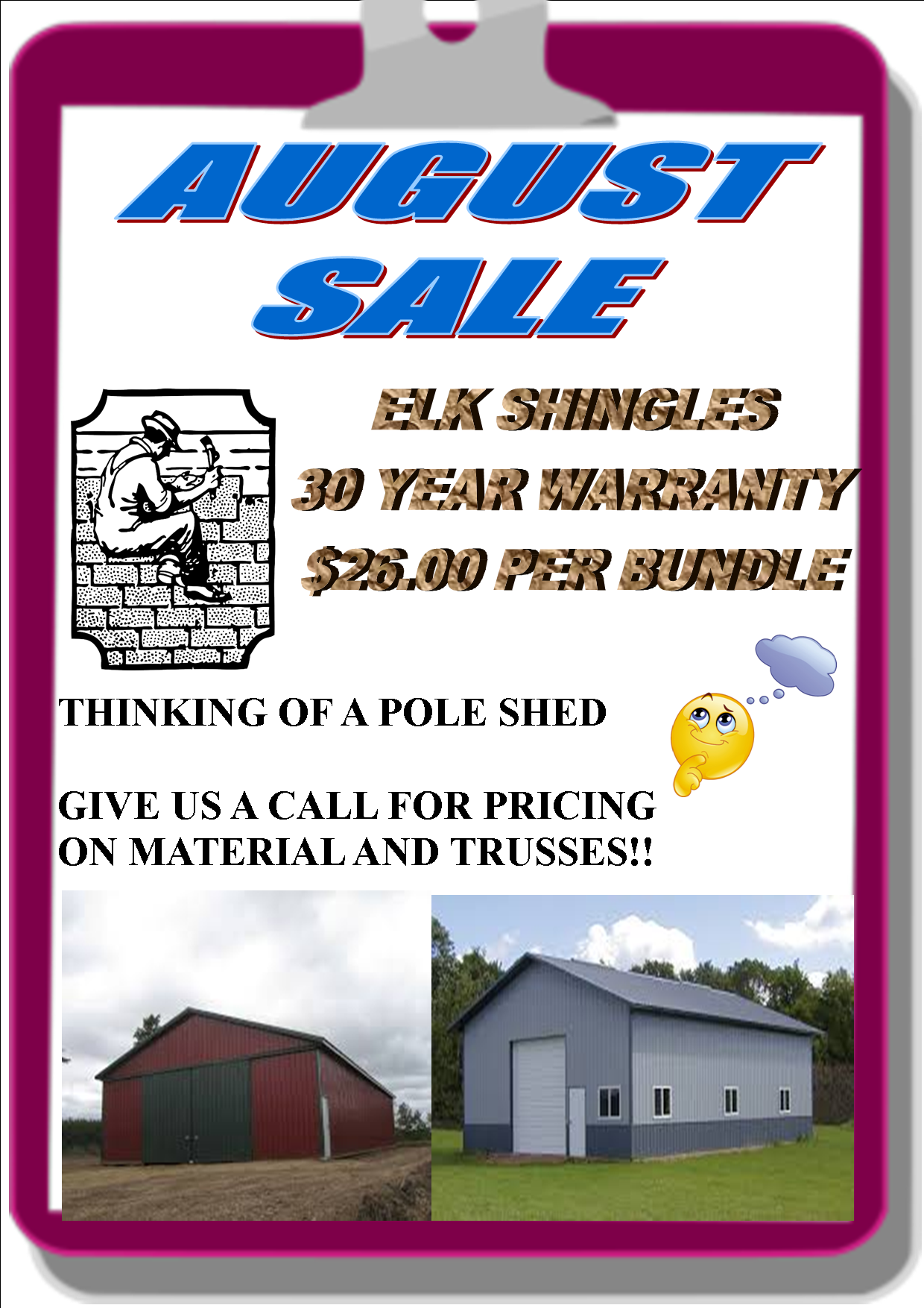 August Sale Flyer